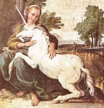 maagd met eenhoorn