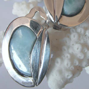 Larimar Oorclips by GEMH