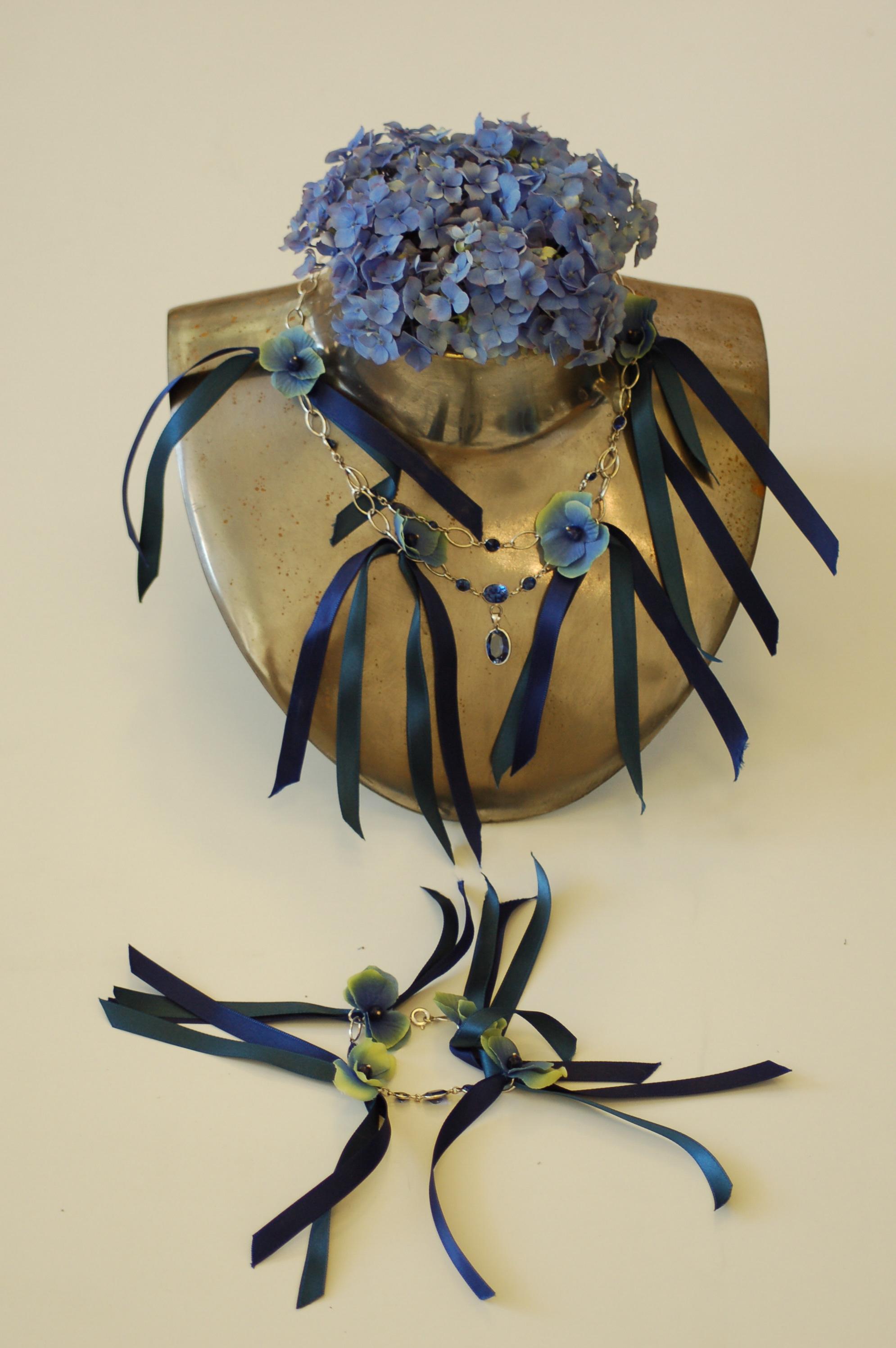 real flower collier van zijde by gemh